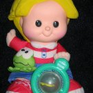 Fisher Price Little People Plush Eddie Doll Giggles and frog croaks