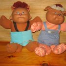 Two Vintage Cabbage Patch Koosas Dolls Cat and Dog