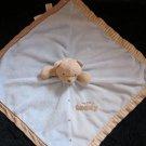Carter's Tan Teddy Bear Blue Security Blanket Lovey Rattle my 1st teddy