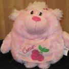 Kellytoy Decorative Pillow Pink Poodle Cherries