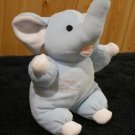 SKM Plush Toys Blue Plush Elephant Baby's First Friend Rattle