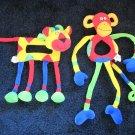 JellyCat Jelly Kitten Monkey and Lion Baby Rattles Plush Toys