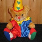 Play by Play Plush Teddy Bear Clown with Red and Blue suit and Yellow hat