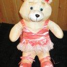 Dayton Hudson Corp Ballerina Teddy Bear nylon Yellow bear pink outfit