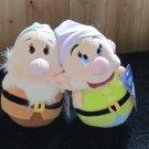 Disney Sega Prize USA Two Round Bottom plush Dwarfs from Snow White Plush Toys