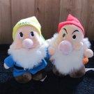 Two  plush Dwarfs from Disney Snow White Plush Toys