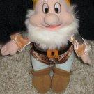 Disney Happy Dwarf From Snow White Plush with brown jacket