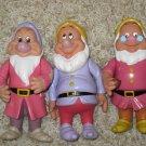 "Disney Snow White 6"" PVC Dwarf Collectible Figures Lot of 3"