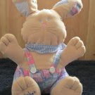 Main Joy Limited Plush Tan Bunny Rabbit named Patches in overalls with scarf