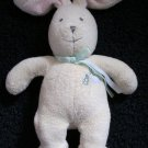 Prestige Toy Co Carter's #44003 Plush Bunny Rabbit Rattle Cream and Pink with Turtle applique