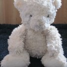 PBC International White Plush Teddy Bear with Curly fur and white nose