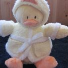 Baby Gund Yellow Plush Duck in a Bathrobe 'Little Quack-ups'