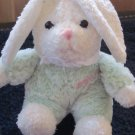 Walmart Baby's First Bunny Cream and Green Plush Bunny