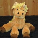 Princess Soft Toys Tan Plush Horse with Yellow mane 2002 soft lovey