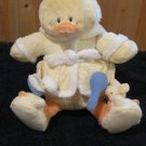 Little Quack Ups Baby Gund Yellow Plush Duck in a Bathrobe and duck slippers