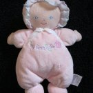 Prestige Pink plush Doll with a flower and says My First Doll This has a rattle inside