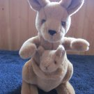 Aurora Plush Kangaroo with baby Joey in her pouch