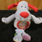 Kids II Blue Puppy Dog  red nose Musical Crib Toy with Attractive turning Tummy