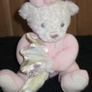 First and Main Pajama Pal White plush Teddy Bear holding blanket
