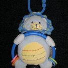 Carters Blue Lion Teether Toy Rattle Hanger