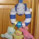 Tykes by Carters Soft Hanging Puppy Ring with Three small animals Bear Duck Rabbit