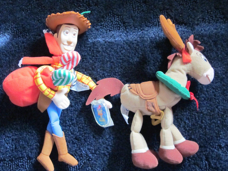 Toy Story Gift Bearing Woody and Bullseye Plush Toys Christmas Shopping