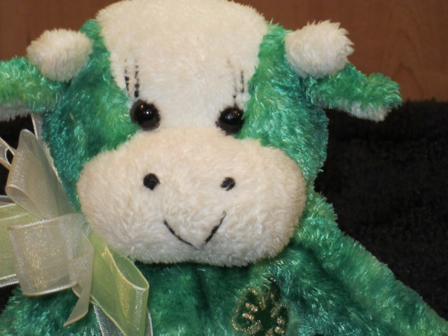 Glory Be Green Plush 4H Bull with 4-H gold clover and from 2003