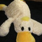 Plush Yellow Duck with black eyes and pads on dark yellow feet by Playful Plush