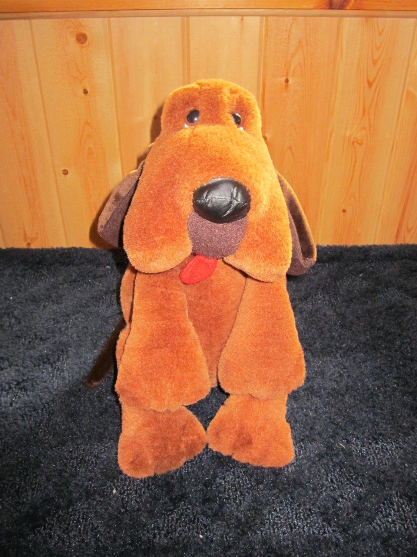 Vintage Carousel Plush brown Dog Blood Hound