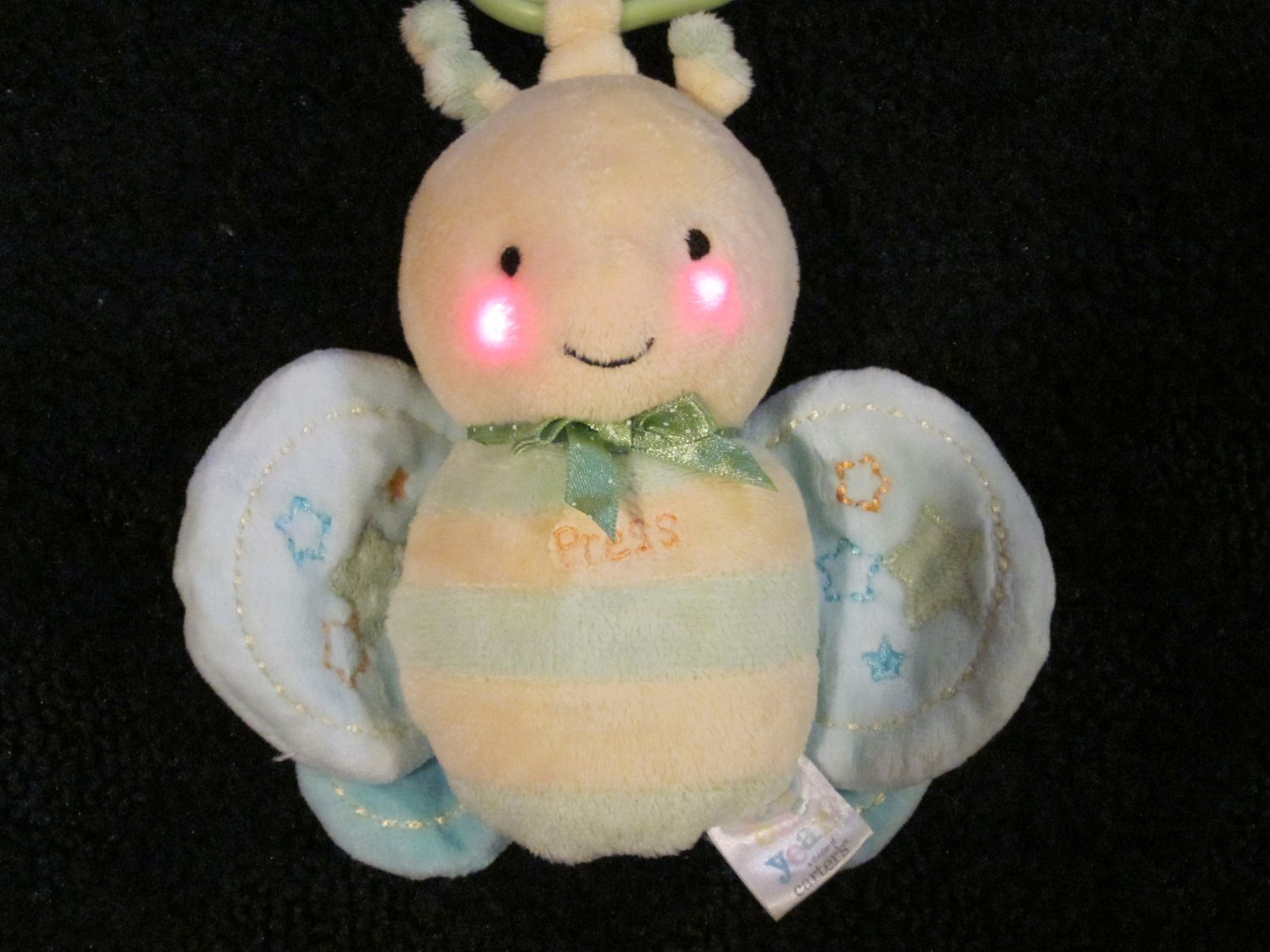 Just One Year Musical hanging toy Plush Butterfly Bug