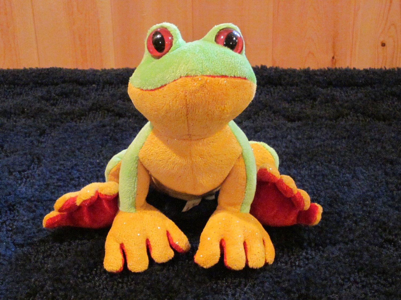 Ganz Webkinz Tree Frog Green Yellow Red No Code