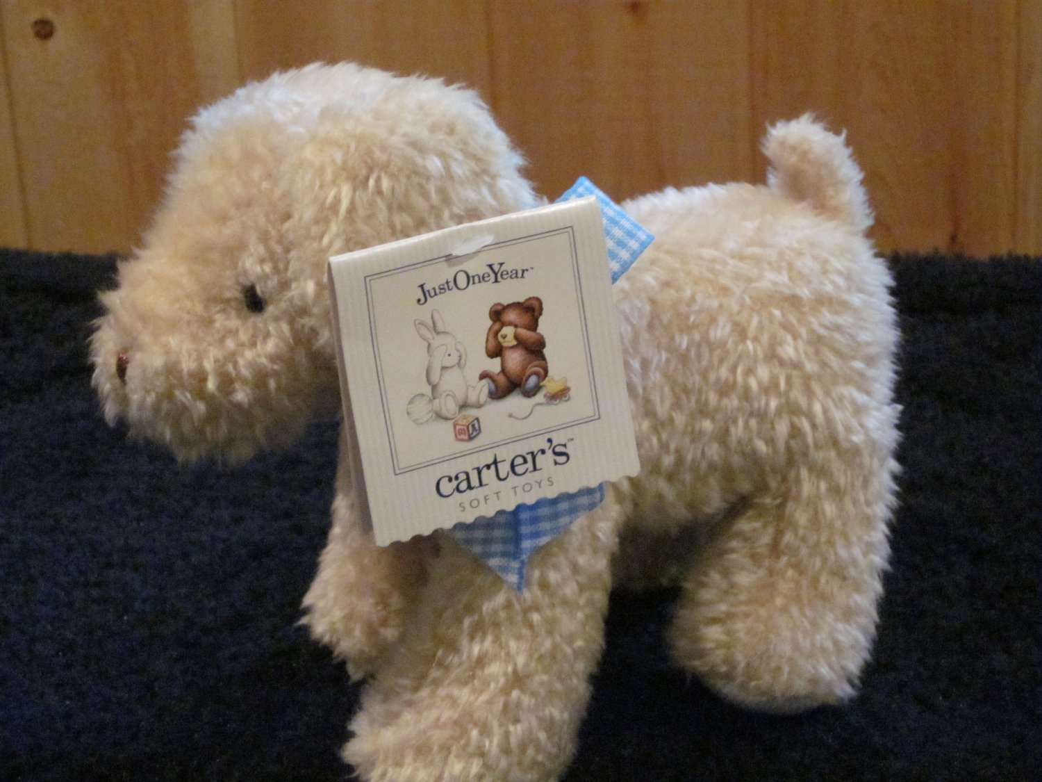Just One Year Carters Tan Puppy Dog with Chimes Rattles