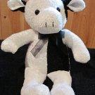 Kuddle Me Toys Plush Black and White Cow