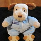 Carters Tan and Brown Puppy Dog Doll With Rattle #8639