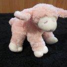Baby Gund Pink Winky Lamb Plush Rattle Toy 58077