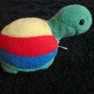 Eden Plush Rattle Toy Turtle Green Red yellow and blue