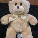 Kids Preferred Tan Teddy Bear Lovey with yellow ribbon