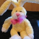 DanDee collector's Choice Yellow plush Bunny Rabbit with hot pink bow