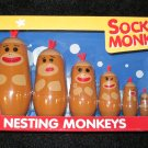 Schylling Nesting Sock Monkeys Six Piece set Monkey
