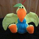 Stuffins Yellow Blue and orange plush Bird with squeaker