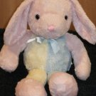 Pink Plush Bunny Rabbit with Yellow and blue body and legs