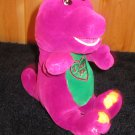 "Plush Singing 11"" Barney The Happy Dinosaur Red Heart and I Love You"
