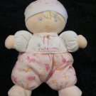 Tykes Plush Pink Doll with bunny and I'm so cuddly Plush Rattle toy