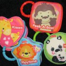 Set of Four Fisher Price Soft Play Books Playtime Kisses Hugs and Peek-a-boo