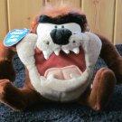 Vintage 1997 Tasmanian Devil Looney Tunes Plush Toy spins snarls