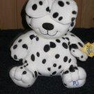 Kids II Black and White Dog named PJ Says, Peek A Boo Plush