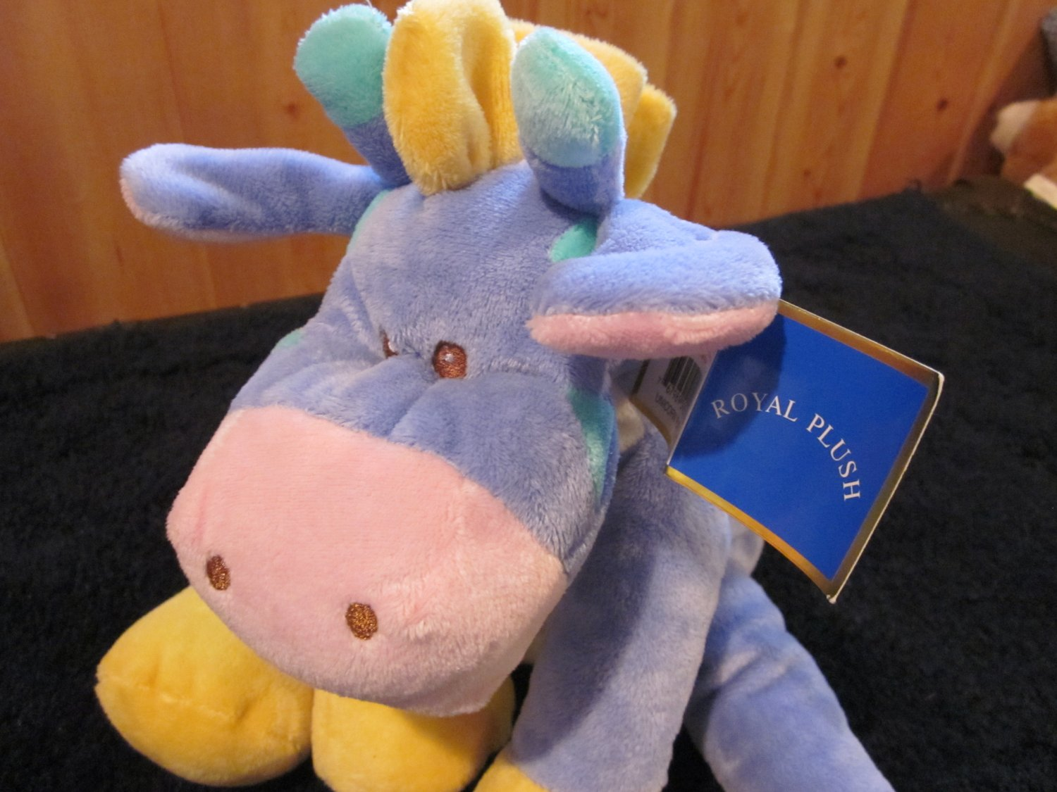 Royal Plush Unicorn Purple Cow with patches.