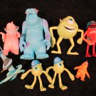 Monsters Inc Figures lot of 8
