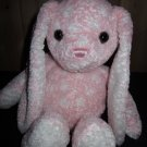 "Dakin 14"" Pink Bunny rabbit White Polka Dots Plush Toy #53956"