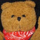 Lillian Vernon Plush Brennan Bear in Overalls Back Pack for Treasures
